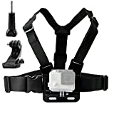 TEKCAM Action Camera Adjustable <span class='highlight'>Chest</span> <span class='highlight'>Harness</span> <span class='highlight'>Mount</span> with J Hook <span class='highlight'>Mount</span> Compatible with Gopro Hero 8 7 6 5/ AKASO ek7000/ Apeman a100/ Victure/Campark ACT74 Action Sports Outdoor Cameras