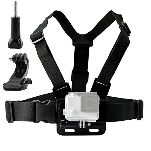 TEKCAM Ajustable en el Pecho con Soporte de Gancho Compatible con Gopro Hero 7 6 5/AKASO Brave 4/Apeman/Victure/ Campark/YI 4k Action Sports Cámaras Para Exteriores Accesorios