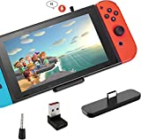 Switch Bluetooth Adapter for Nintendo Switch/Switch Lite/PS4/PC, Dual Stream Bluetooth Wireless USB C Audio Transmitter with aptX Low Latency to AirPods Bluetooth Speakers Headphones