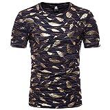 Mr.BaoLong&Miss.GO Nouveaux T-Shirts pour Hommes T-Shirt à Manches Courtes pour Hommes avec Impression De Plumes Bronzantes
