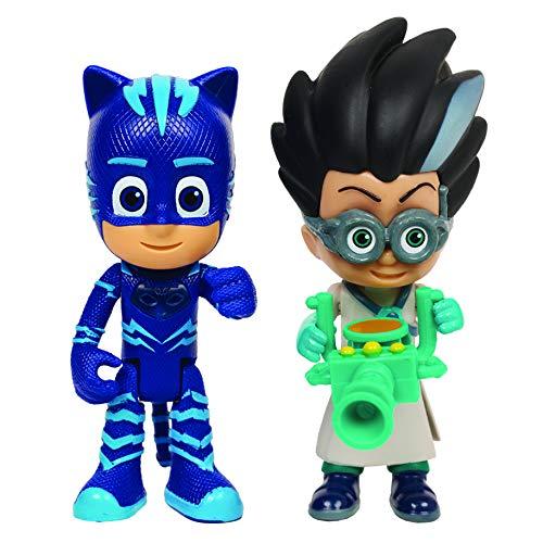 Giochi Preziosi Pj Masks Coppia di Personaggi Gattoboy e Romeo