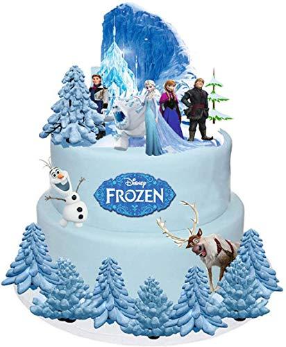 Disney 1 Set Kuchen Party steht auf, Topper Wafer Karte X18 Stücke