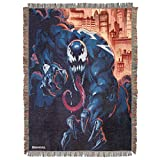 Marvel Venom Venom City gewebte Tagesdecke, 121,9 x 152,4 cm, Mehrfarbig, Mehrfarbig