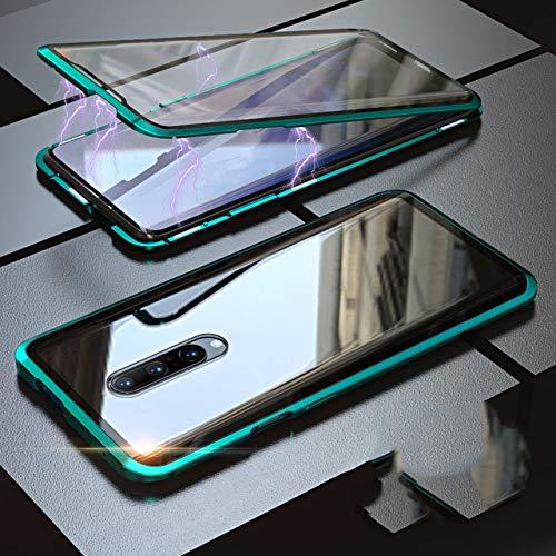 WALCD Achterkant + voorkant Dubbele zijkanten Gehard Brillenkoker Metalen bumperafdekking | Telefoonbumpers, voor One Plus 7 7T 6 6T