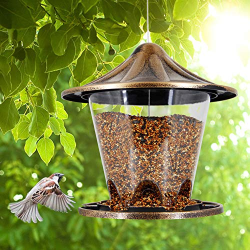 Twinkle Star Wild Bird Feeder Hanging for Garden Yard Outside Decoration Antique Dome Shaped Roof