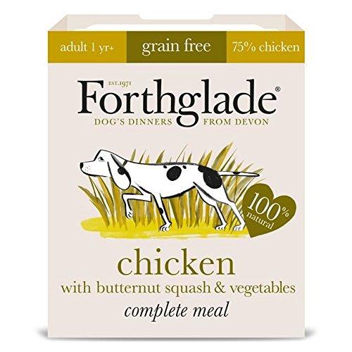 Forthglade - Pollo completo para adultos con guirnalda de mariposa y grano de verdura, 7 x 395 g (paquete de 2)