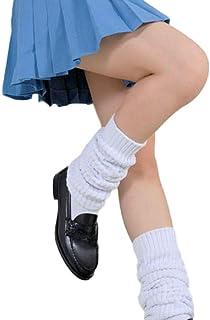 SSJ:Japan High School Girls Leg Warmer Bubble Loose Socks [US Size 5.5-7.5] Super Long 70.8-39.3inch