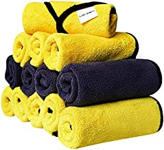 helloleiboo Microfiber Cleaning Cloths Professional Microfiber Drying Towel for Car Cleaning Highly Absorbent & Lint-Free (Pack of 13)