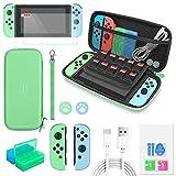 Accessori per Nintendo Switch 12 in 1, custodia per Nintendo Switch, protezione per lo schermo,...
