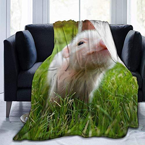 iui Naughty Pig Baby-Flanell-Decke, super weich und bequem, Bettdecke, geeignet für Sofa, Mikrofaser.