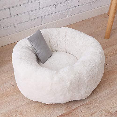 Komfortables und Warmes Kuschelbett,Rundes Donut-Haustierbett, für Vier...