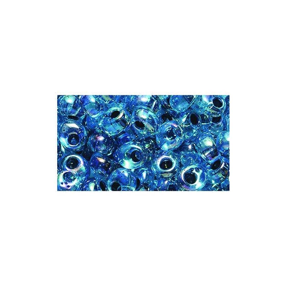 Shipwreck Beads Miyuki Seed Bead, Drop Magatama Topaz Lined Aqua Aurora Borealis, 4mm bt02169223306050