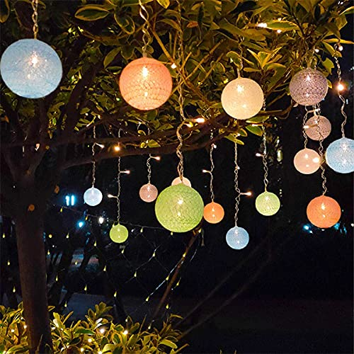 Guirnaldas Luces Exterior Solar Luces solares al Aire Libre Luces Luces Decorativas para Luces de Hadas al Aire Libre a Prueba de Agua para jardín, Patio, Patio, Navidad. Luces Exterior