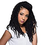 Bobbi Boss Synthetic Hair Crochet Braids African Roots Braid Collection Nu Locs 14' (4-PACK, 1B)