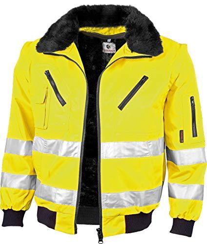 Gonschorek Qualitex Warnschutz Pilotenjacke gelb oder orange (XL, warngelb)