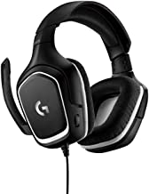Logitech G332 - Auriculares Gaming con Cable, Audio Estéreo, Transductores 50 mm, 3.5 mm Jack, Micrófono Volteable para Silenciar, Ligero, PC/Mac/Xbox One/PS4/Nintendo Switch, Negro/Rojo