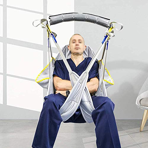 51CdZ3nQMfL - WLKQ Arnés De Elevación Paciente De Cuerpo Completo, Grúa de Paciente, Eslinga De Elevación con Accesorios De Bucle,para Posicionamiento Y Elevación De La Cama,Enfermería, Cuidador 507 Libras