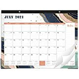 2021-2022 Desk Calendar - 18 Monthly Desk/Wall Calendar 2-in-1, 22' x 17', Jul. 2021 - Dec. 2022 with Corner Protectors, Ruled Blocks - Blue by Artfan