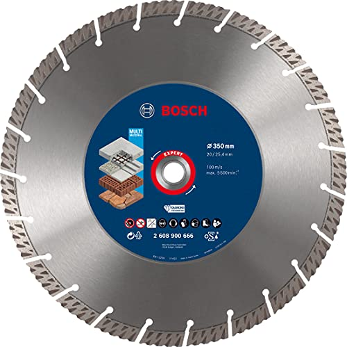 Bosch Professional 1 x Discos de corte de diamante Expert MultiMaterial, para Hormigón, 350 mm, Accesorios Sierra circular de mesa, Sierra a gasolina