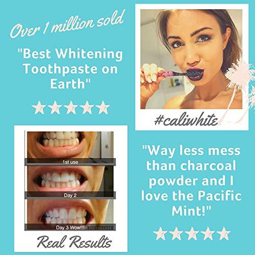 Cali White Charbon actif & huile de noix de coco bio dents blanchissant le dentifrice, Vegan,...