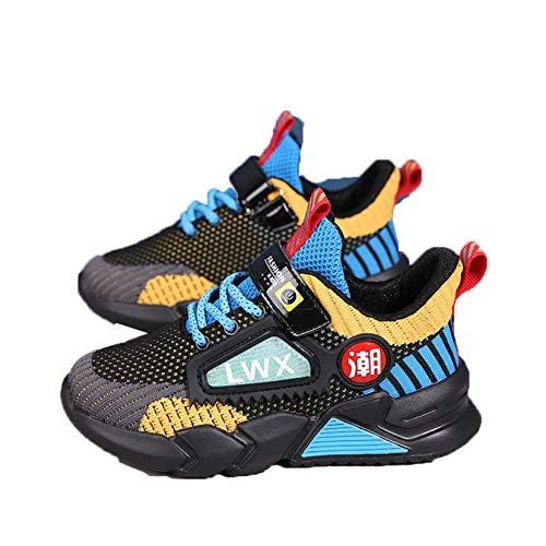 Zapatillas para niños Zapatillas cómodas con Plataforma Transpirable Zapatillas de Malla de caña Baja para niños Zapatillas Deportivas Ligeras Informales para Caminar