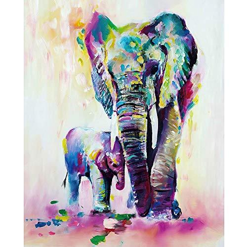 Aaubsk Puzzle 1000 Piezas Regalos de Arte Elefante y bebé Elefante Puzzle 1000 Piezas Adultos Juego de Habilidad para Toda la Familia, Colorido Juego de ubicación.50x75cm(20x30inch)