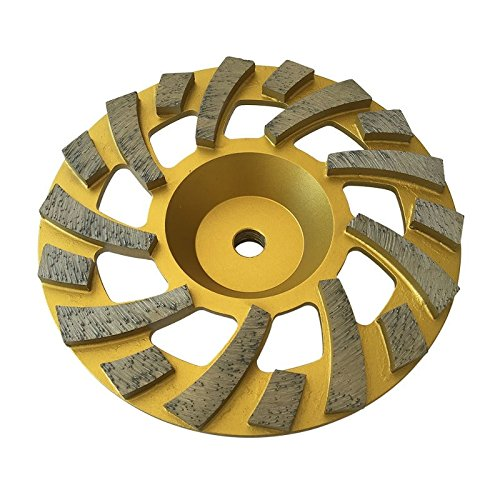 7' Long Lasting Diamond Cup Wheels for Concrete, Epoxy, Paint, Mastic Grinding - 5/8'-11 Arbor