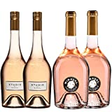 Best of Provence - Lot de 4 bouteilles - Studio de Miraval*2 / Miraval Jolie-Pitt*2 - Côtes de Provence Rosé 2019 (4 * 75cl)