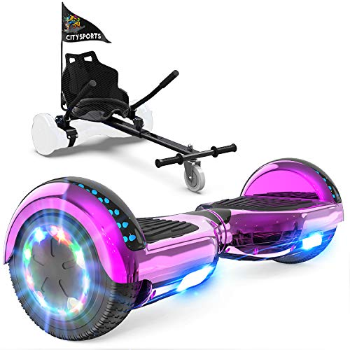 GeekMe Patinete Eléctrico Auto Equilibrio con Hoverkart,Hover Scooter Board,Balance Board + Go-Kart...