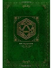 RPG Notebook: Lined and grid pages for Role Playing Games | GREEN COVER | Notes, tracking, mapping, terrain plans for DM Dungeon Master or a GM Game Master