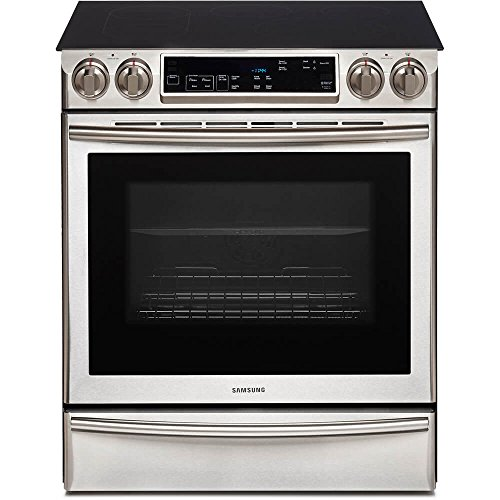 Samsung NE58F9710WS Slide-in Electric Range with FlexDuo Oven