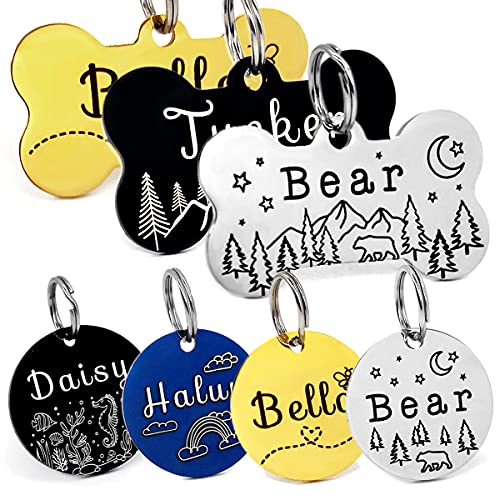 YiXiEr Personalized Cat Tags