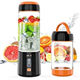 Smoothie Maker, Mixer Smoothie Maker Mini Standmixer Entsafter mit 4000mAh Batterie, Tragbar USB...