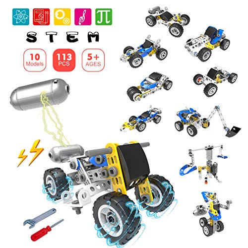 (40% OFF Coupon) 113 Pcs Motorized Stem Toys Kit $16.79