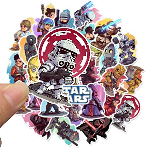 arret Middleton Good-Looking 50 Pcs Star Wars Sticker, Auswahl Vinyl Autoaufkleber Motorrad Fahrrad Gepäck Aufkleber Graffiti Flicken Skateboard Sticker - 01