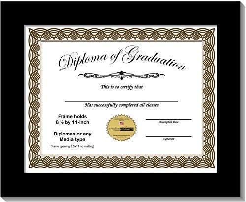 CreativePF 8.5x11bk Black Diploma Frame Popular standard 11-inc Brand new Displays 8.5 by