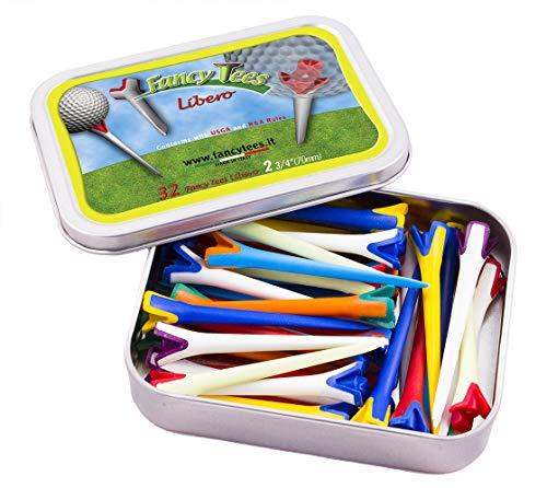 FancyTees FT_LIB_S_32, Tee da Golf in Due Materiali Plastici e Minimo Contatto con La Palla Unisex Adulto, Multicolore, Unica