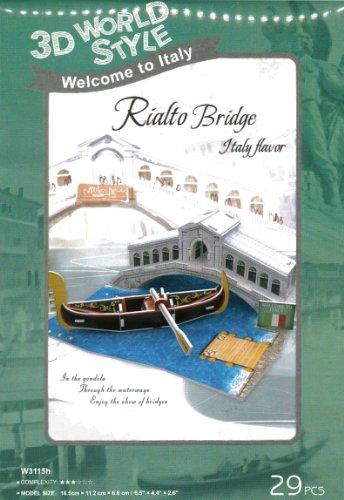 3D puzzle en trois dimensions 3D style World Series Venise Pont du Rialto W3115h (Japon import / Le paquet et le manuel sont ?crites en japonais)
