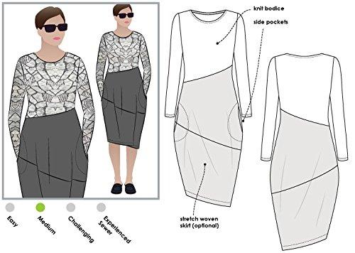 Style Arc Maisie Schnittmuster Designer-Kleid (Größe 18–30)