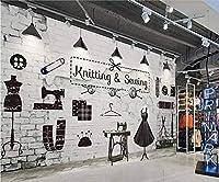 eibehang壁紙壁画レトロレンガ衣料品店画像壁背景壁家の装飾リビングルーム寝室3d壁紙* 400cmx280cm