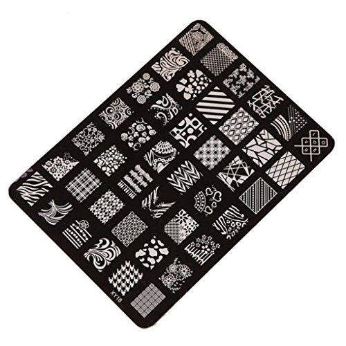 Tonsee Estamper impression plaque Image timbres plaque manucure Nail Art déco des ongles, XY18