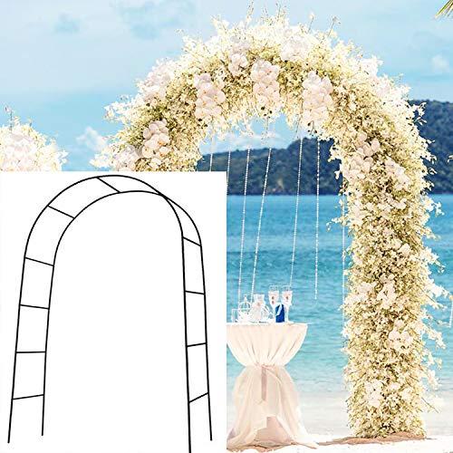 SzJias Weddings Arch Garden Metal Arbors Wedding Arch for Garden Climbing Plants Bridal Party Decoration (Black)