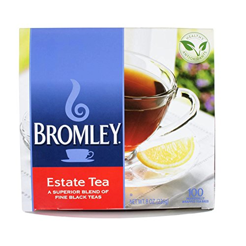 Bromley Estate Tea Blend Of Fine Black Teas 100-Tea Bags 8-Oz. Box