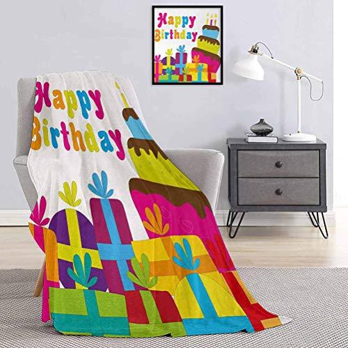 Toopeek Manta de lujo de grado especial con diseño de pájaros y pájaros voladores, felices amigos, decoración de animales, multiusos, uso para sofás, etc. Ancho 70 x largo 84 pulgadas, multicolor
