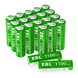 EBL 20 pcs 1.2V AA Ni-MH Batterie Ricaricabili da 1100mAh, AA Pile Ricaricabili con 1200 c...