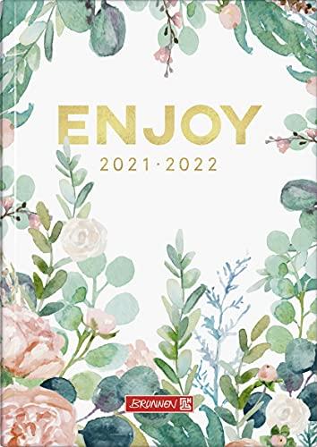 """BRUNNEN 1072110142 Schülerkalender 2021/2022 (18 Monate) """"Enjoy"""" 2 Seiten = 1 Woche, Blattgröße 14,8 x 21 cm, A5, Broschur-Einband"""