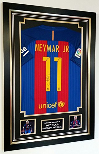 www.signedmemorabiliashop.co.uk NIEUWE NEYMAR van Barcelona SIGNED SHIRT