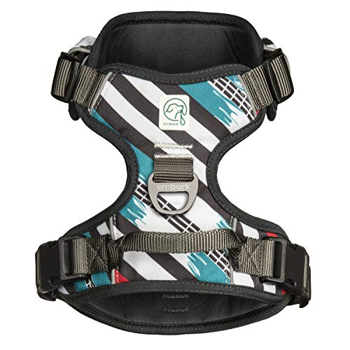 Embark Urban Dog Harness, Easy On and Off with Front and Back Leash Attachments & Control Handle - No Pull Training, Size Adjustable and Non Choke (Large, Maverick)
