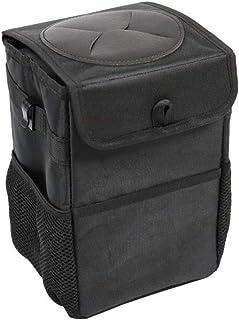 ValueHall CarTrashCan Foldable Waterproof Trash Bin Hanging Garbage Bag with Lid and Side Pockets V7077 (6L)