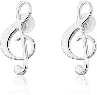 Stud Earring for Women,Music Note Earring Stud Girls Gold Silver Dangle Earring Stainless Steel Earring